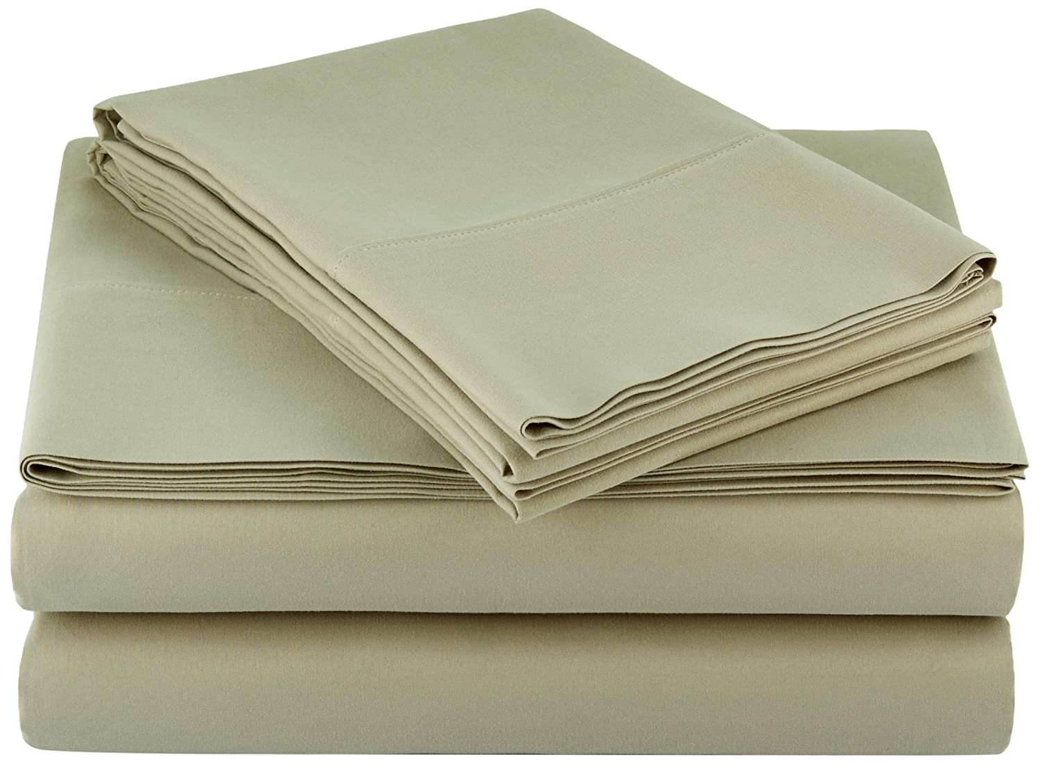 AmazonBasics Microfiber Sheet Set - Queen, Olive