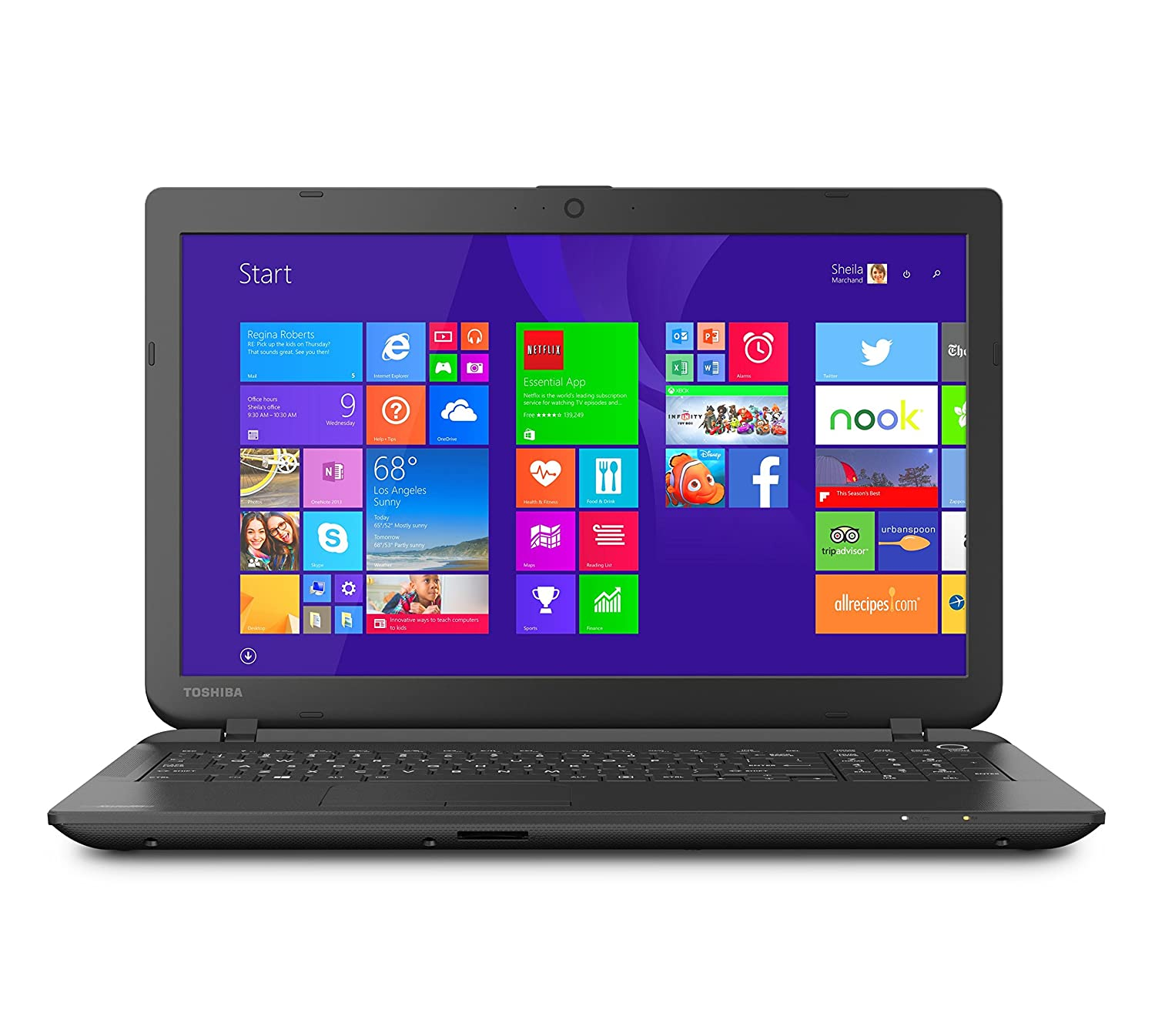 Toshiba-Satellite-C55-B5298-15-6-inch-Laptop-2-1-GHz-Intel-Celeron-N2830-Processor-4GB-DIMM-500GB-HDD-Windows-8-1-Jet-Black