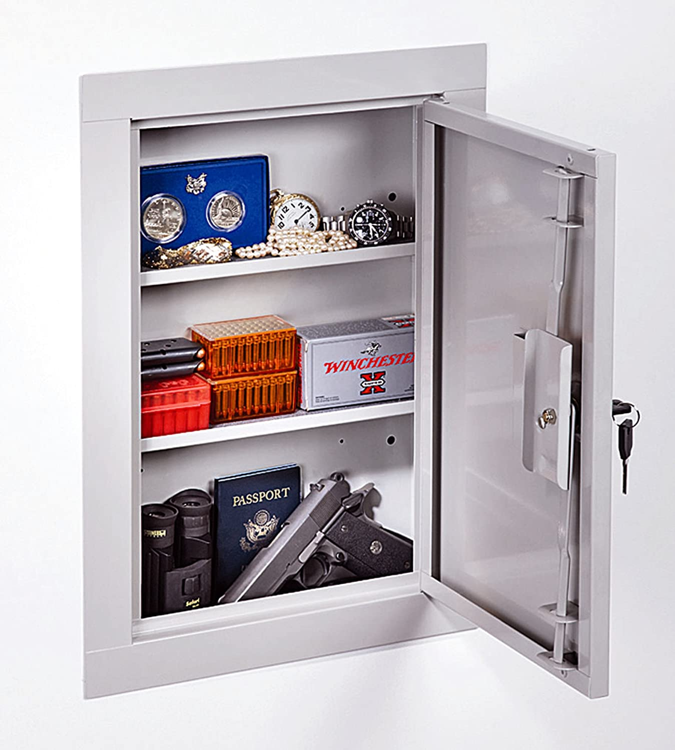 Stack On Hidden In Wall Vault Tactical Gun Storage Cabinet