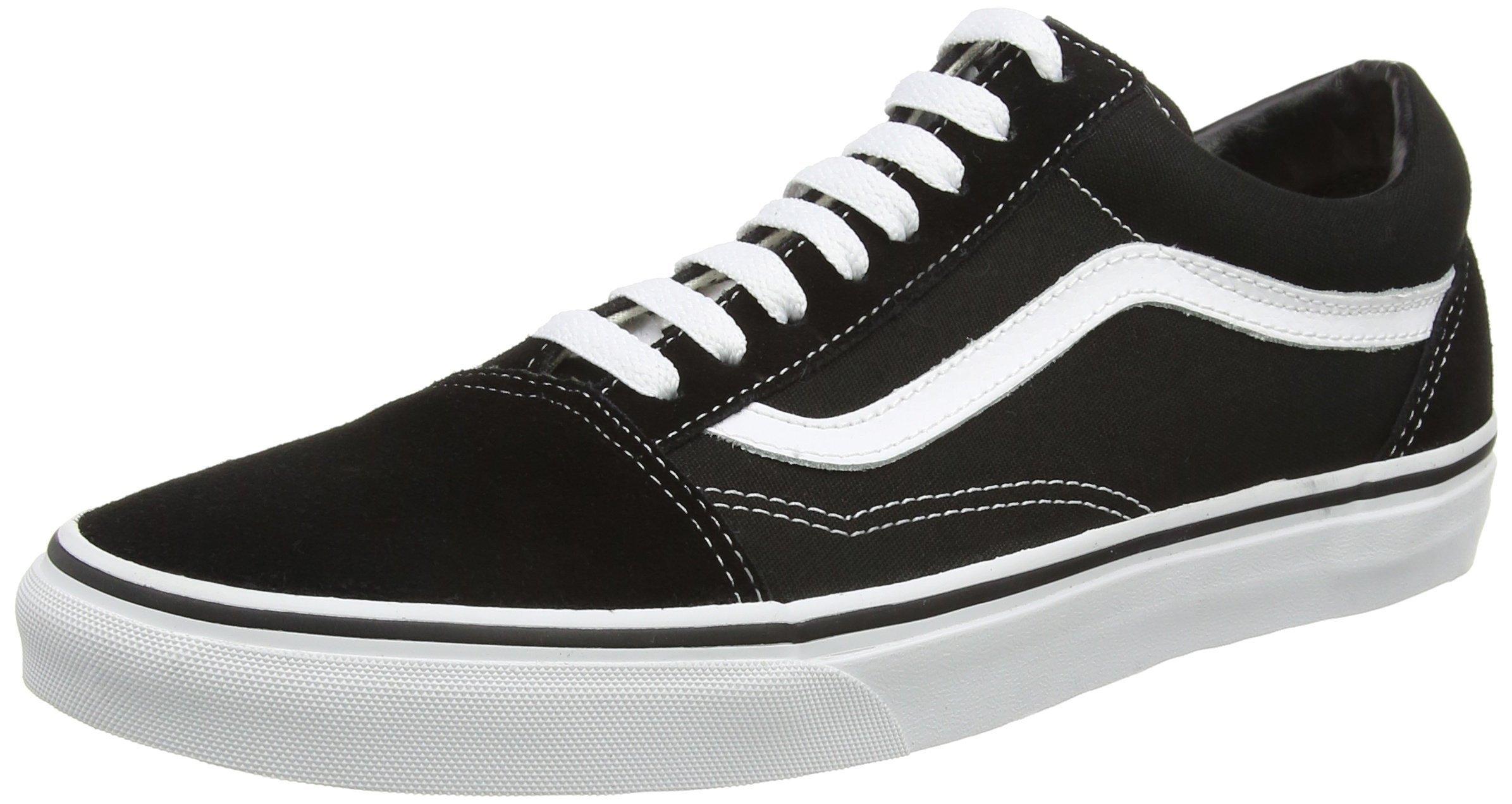 vans skool black white s skate shoes 8