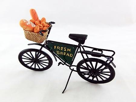 Vélo Boulangerie Maison de Poupée Miniature Extérieur Pain Frais