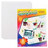 Shrink Films - 12-Pack Clear Shrink Art Papers for Kids, Transparent Shrink Sheets, Creative Art & Craft Supply, DIY Drawing Project for Classroom, Teachers, Students, Clear, 8.5 x 11 Inches (Color: Clear)