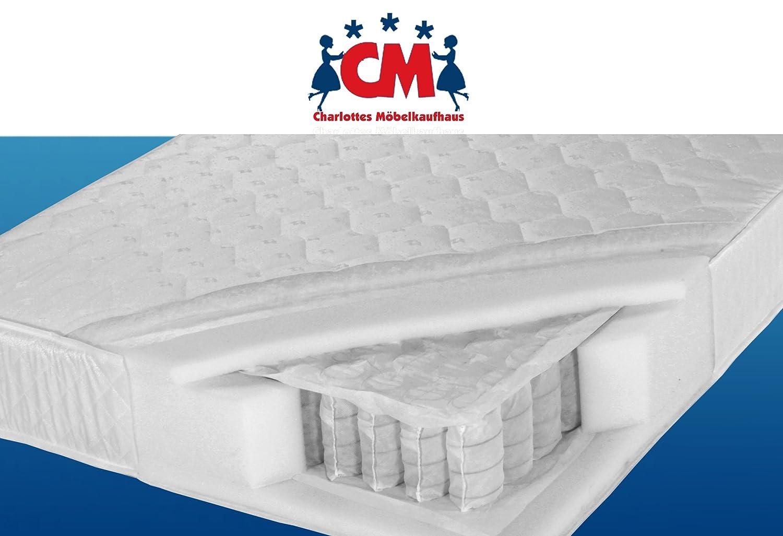 Tonnen-Taschenfederkernmatratze 140×200 cm Florence Plus Qualitätsmatratze Tonnentaschenfederkern Matratze H2 / H3. Klimafaser, atmungsaktiv, ca. 17 cm hoch, 140 x 200 cm. online bestellen