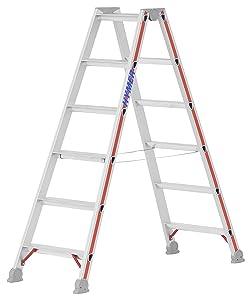 Hymer 402412 Stufenstehleiter SC 40 2 x 6 Stufen Aluminium  BaumarktKundenbewertung und weitere Informationen