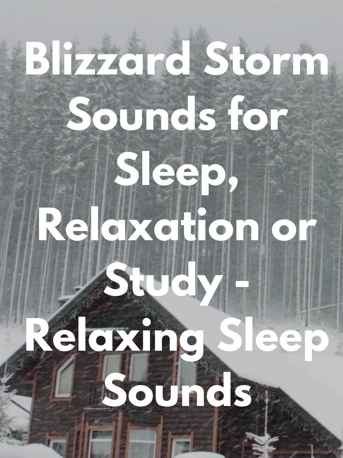 Blizzard Storm Sounds for Sleep, Relaxation or Study