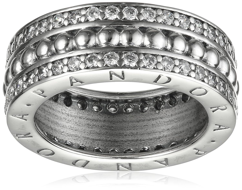 Pandora Damen-Ring Logo 925 Silber Zirkonia transparent – 190962CZ günstig online kaufen
