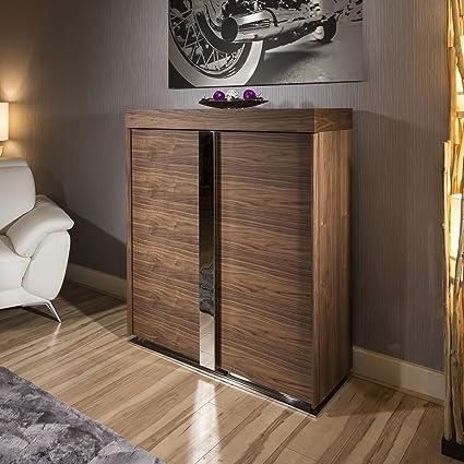 Modern Tall Sideboard / Cabinet / Buffet / Cupboard in Walnut 912H