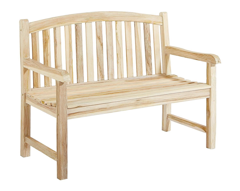 ambientehome ssv 2er teakbank gartenbank holzbank 120 cm white wash neues design g nstig. Black Bedroom Furniture Sets. Home Design Ideas