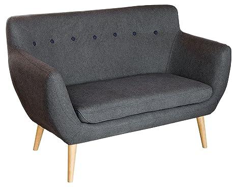 Febland 2-Seater Sofa, Fabric, Grey