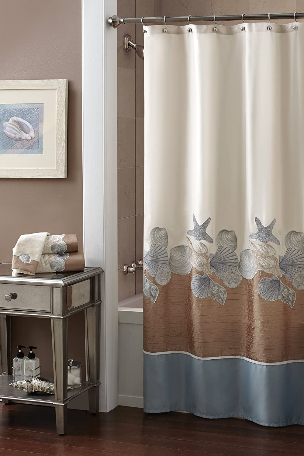 Beautiful Nautical Curtains for Shower and Windows |