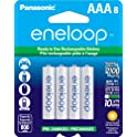 8-Pack Panasonic Eneloop AAA Rechargeable Ni-MH Batteries