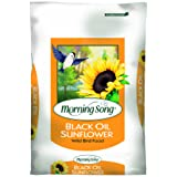 Morning Song 11410 Black Oil Sunflower Wild Bird Food, 50-Pound (Tamaño: 50-Pound)