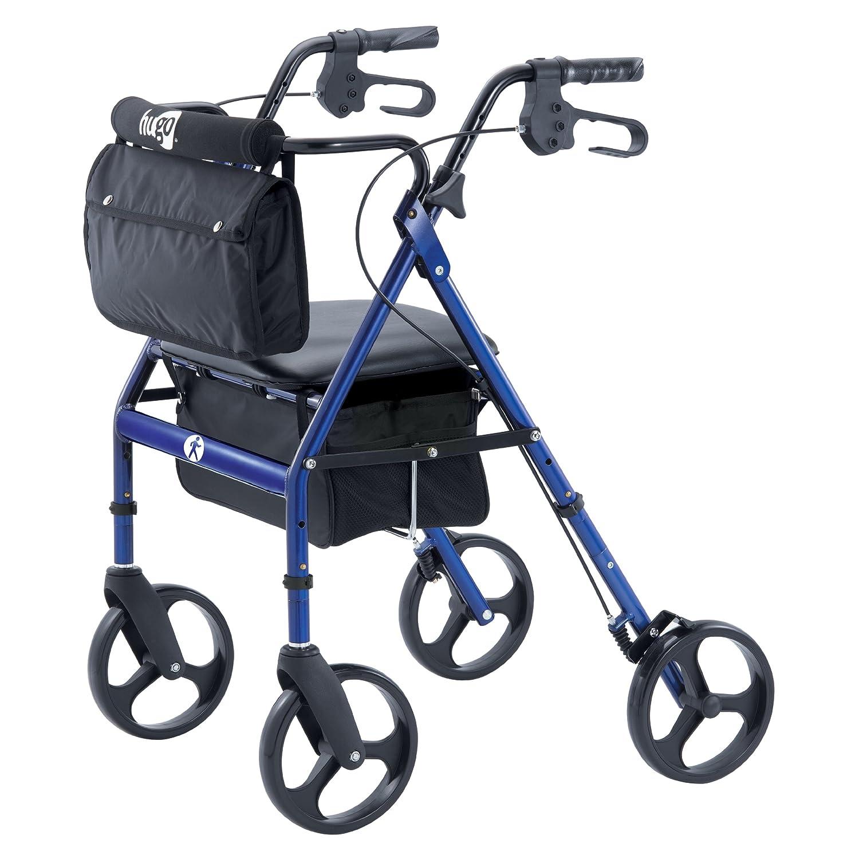 Hugo Elite Rollator Walker With Seat Backrest And Saddle