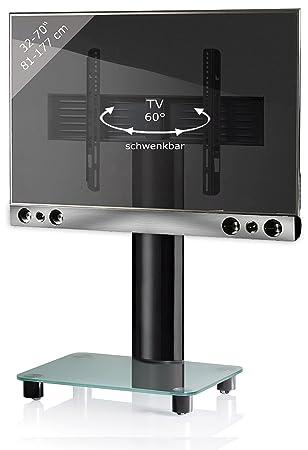 """VCM """"Sbm500"""" TV-Pedestal Plus Soundbar and Holder, Black/Silver"""