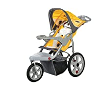 InStep Grand Safari Swivel Wheel Single Jogger - Yellow/Gray