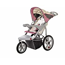 Tan/Pink Grand Safari Swivel Wheel Single Jogger