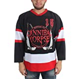 Cannibal Corpse - Mens Hockey Jersey, Small, Black (Color: Black, Tamaño: Small)