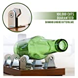 Glass Cutter - Glass Bottle Cutter - DIY Crafts for Glass Bottles - Extra Cutting Wheel Included! (Color: Glass cutter)