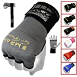 EMRAH PRO Training Boxing Inner Gloves Hand Wraps MMA Fist Protector Bandages Mitts - X (Grey, Small) (Color: Grey, Tamaño: Small)