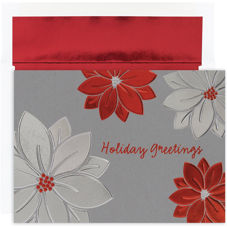 Poinsettia Boxed Christmas Cards | Christmas Wikii