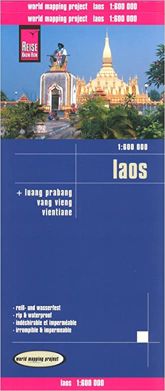 Laos 1:600,000 Travel Map, waterproof, GPS-compatible, REISE, 2013 edition