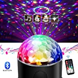 Led Sound Activated Party Lighs Disco Ball DJ Strobe Club Lamp 9 Colors Lighting with Bluetooth Speaker Usb Charging Remote Control for Christmas Home Room Dance Parties Birthday DJ Bar Wedding Show (Color: Disco Lights Bluetooth Speaker)