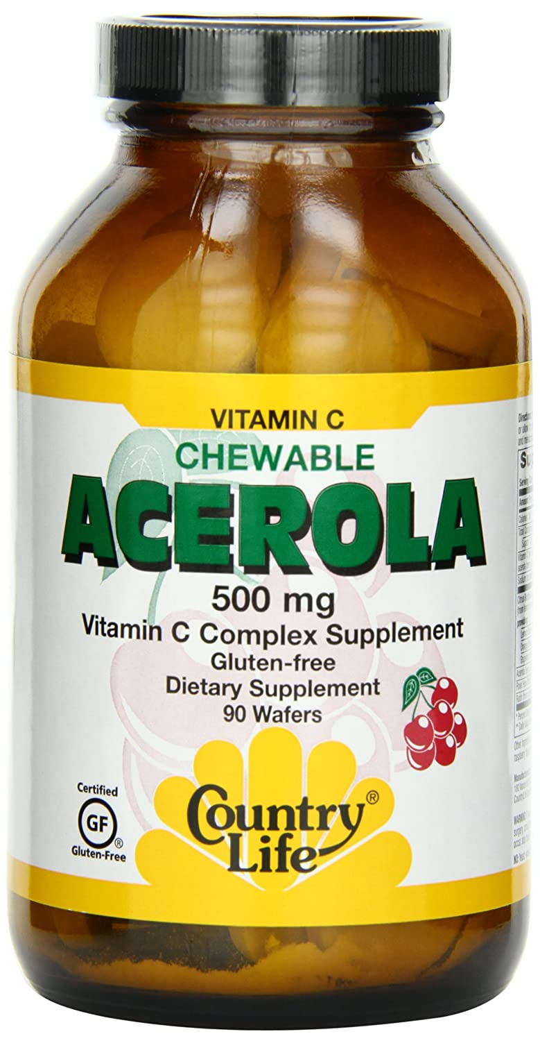 Country Life Chewable Acerola C Complex, 500Mg, 90-Wafer (Pack of 2) fine life for a country mouse