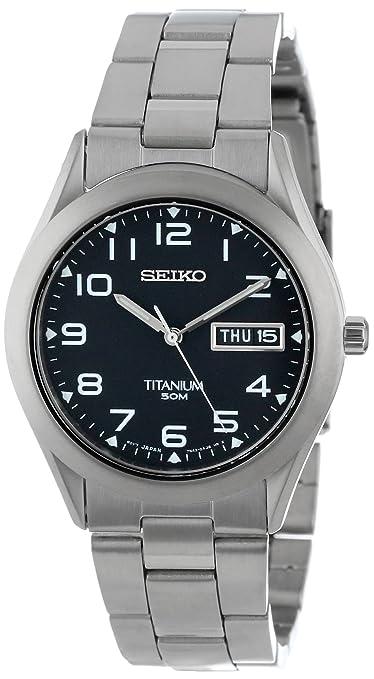 Seiko Men's SGG711 Quartz Titanium Case and Bracelet Watch 精工 男士石英手表 钛表壳表带-奢品汇 | 海淘手表 | 腕表资讯