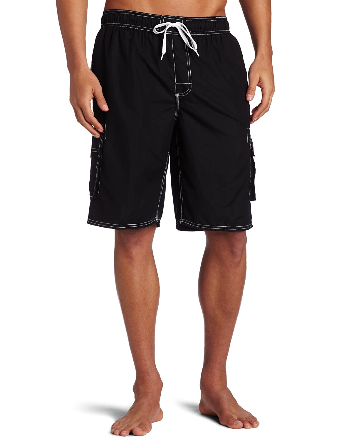 Kanu Surf Men's Barracuda Trunks, Black, Large $17.50