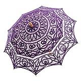 Topwedding Battenburg Lace Outdoor Wedding Parasol Bridal Shower Umbrella, Grape (Color: Grape, Tamaño: onesize)