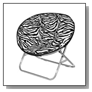 Comfy Zebra Faux Fur Saucer Chair