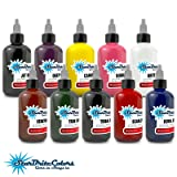 StarBrite Colors Sterilized Tattoo Ink - 10 Primary Color Set 1/2 oz (Color: Multi-Color, Tamaño: 0.5 ounce bottles)
