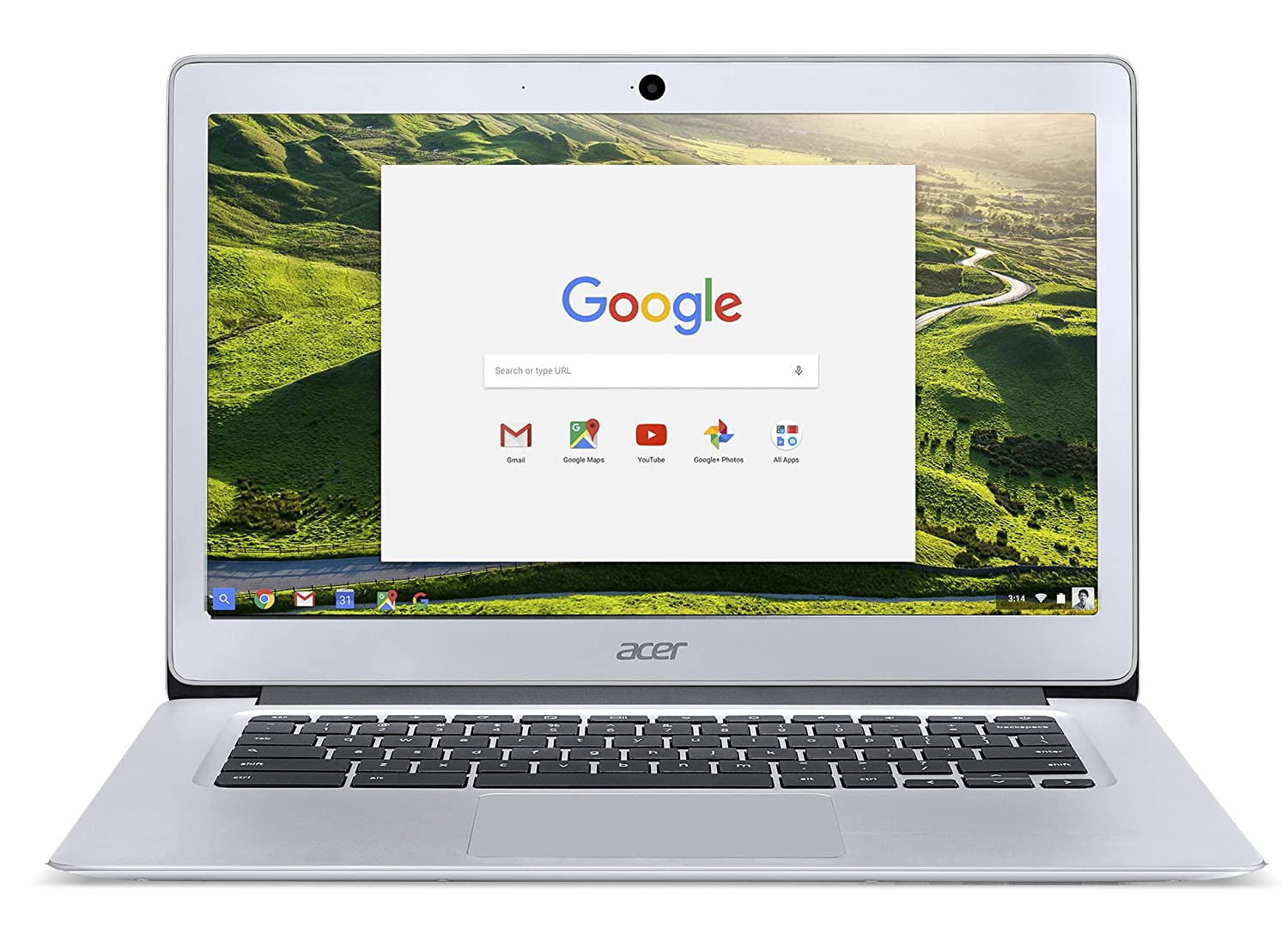 Acer Chromebook 14, Aluminum Chassis, 14-inch Full HD, Intel Celeron N3060, 4GB LPDDR3, 32GB, Chrome CB3-431-C5XK