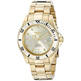 Invicta Men's 18508 Pro Diver Analog Display Swiss Automatic Gold Watch (Color: green)