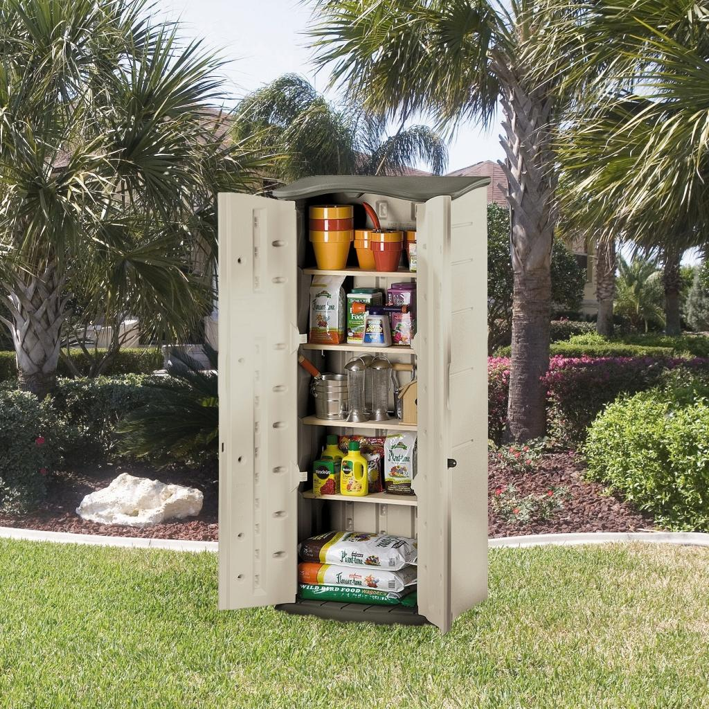 Amazon Com Rubbermaid Plastic Vertical Outdoor Storage