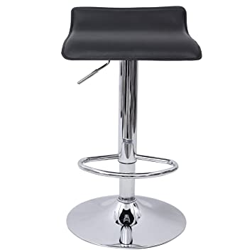 Lot de 2 2 tabourets de bar stool avec dossier noir - Tabouret de bar reglable avec dossier ...
