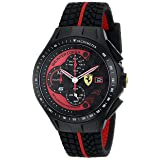 Ferrari Men's 0830077 Race Day Chronograph Black Rubber Strap Watch (Color: Black)