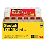 Scotch Double Sided Tape, Trusted Favorite, Engineered for Office and Home Use, 1/2 x 500 Inches, 6 Dispensers/Pack (6137H-2PC-MP)