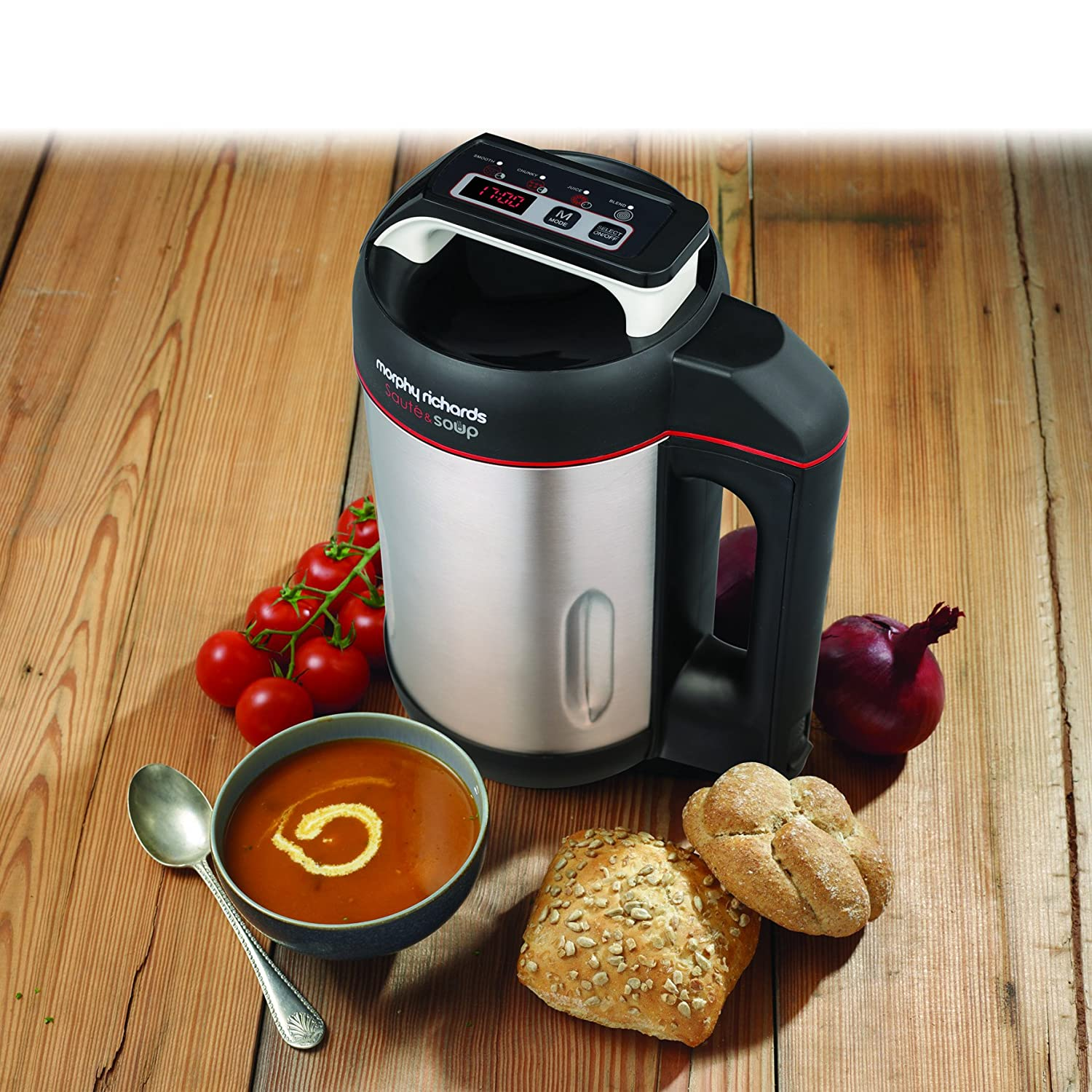 This Morphy Richards soup maker is an excellent choice at under £70 and comes with a saute function.