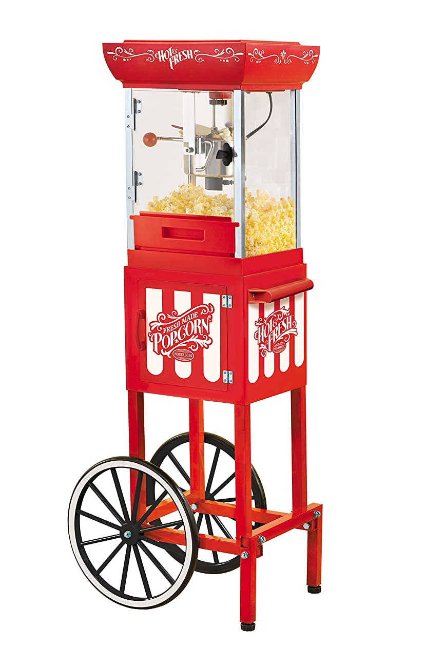 Nostalgia CCP399 48-Inch Tall Vintage Collection 2.5-Ounce Kettle Popcorn Cart 0