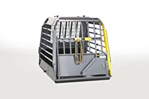 4x4 North America Variocage Single Crash Tested Dog Cage - SXS (Color: Gray/ Black, Tamaño: Small)