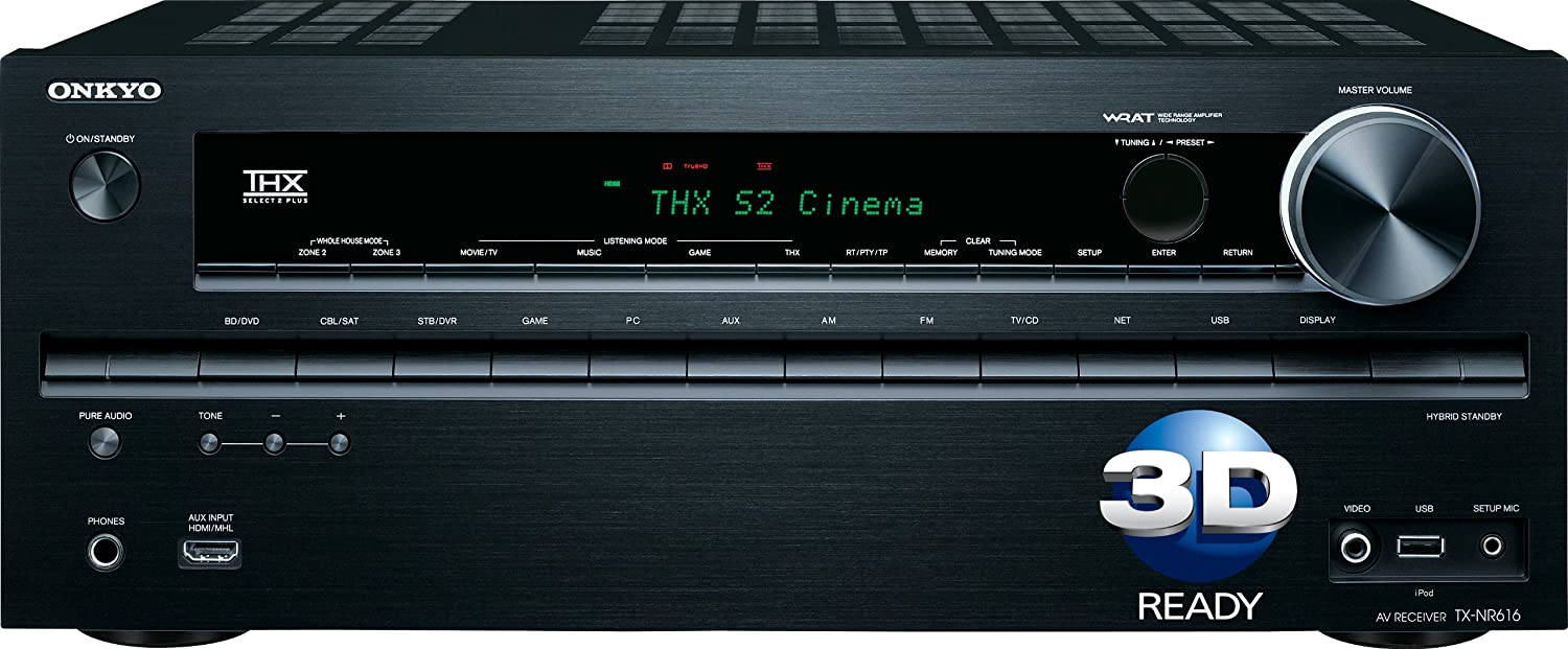 Onkyo TX-NR616 7.2- Channel THX Select2 Plus Certified Network A/V Receiver