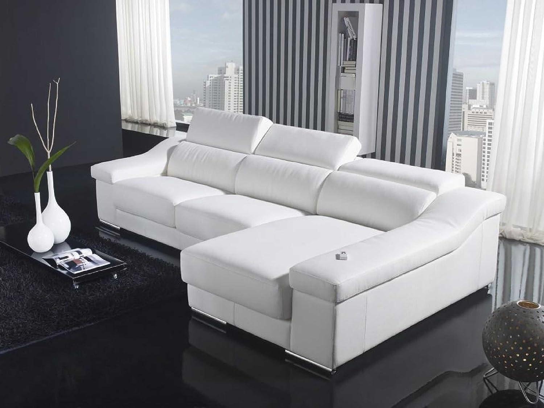 VIG Furniture VGYIT136C-WHT Divani Casa T136C - Modern Leather Sectional