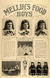 Print ad for Mellin's Food for boys featuring triplets from Richmond, Kentucky