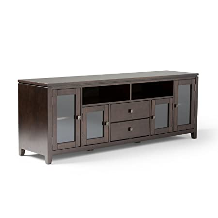 Simpli Home 3AXCCOS72 Cosmopolitan 72 Zoll Wide TV Media Stand, Holz, coffee braun, 182.88 x 44.45 x 66.04 cm
