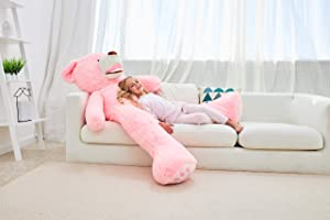 IKASA Giant Teddy Bear Plush Toy Stuffed Animals 5.25 Foot (Pink, 63 inches) (Color: Pink, Tamaño: 63 inches)