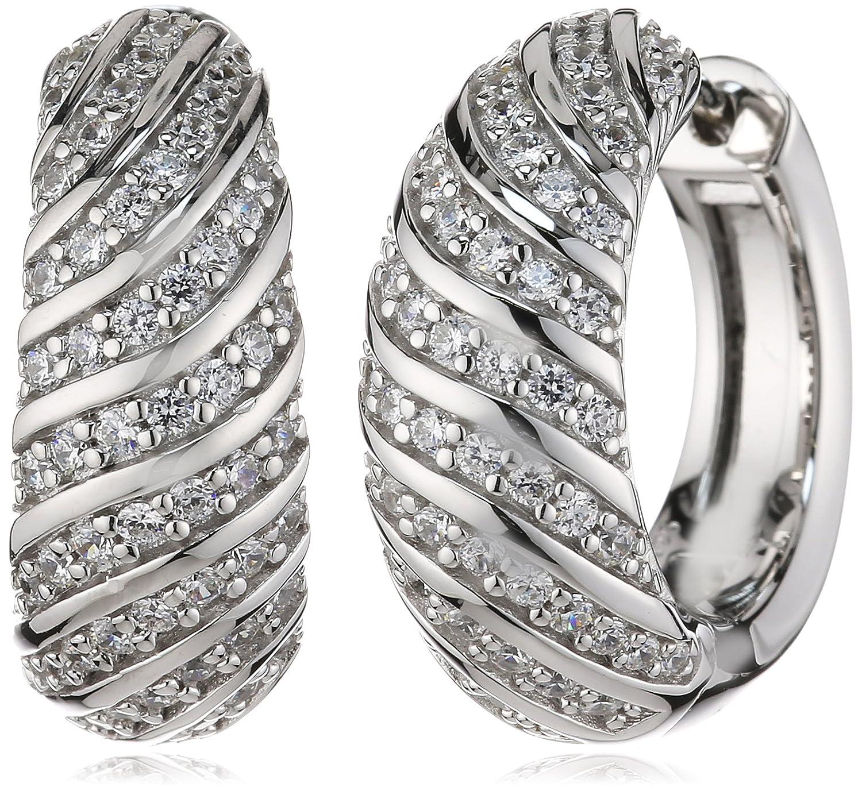Joop Damen-Creolen 925 Sterling Silber Rachel Zirkonia-Pavée weiÃY JPCO90155A000 als Geschenk
