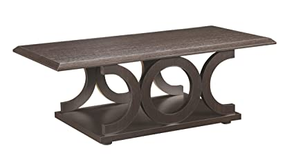Coaster Home Furnishings 703148 Casual Coffee Table, Cappuccino