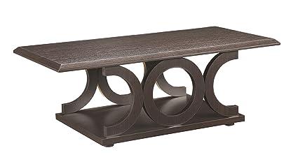 Coaster Home Furnishings 703148 Casual Coffee Table, Cappuccino