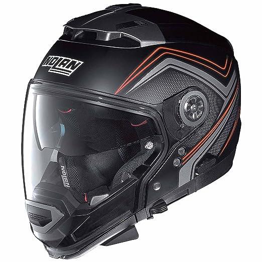 Nolan eVO n 44 crossover cOMO n-cOM casque, couleur :  noir mat/rouge, taille :  2XL